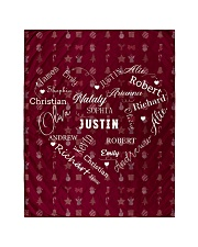 """CUSTOM FAMILY NAME - XMAS 2020 -1 Quilt 40""""x50"""" - Baby front"""