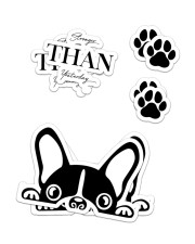 FRENCH BULLDOG 18 Sticker - 2 pack (Vertical) front