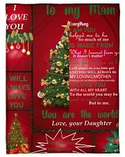 TO MY MOM CUSTOM NAME CHRISTMAS Fleece Blanket tile
