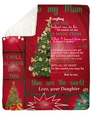 TO MY MOM CUSTOM NAME CHRISTMAS Sherpa Fleece Blanket tile