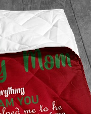 """TO MY MOM CUSTOM NAME CHRISTMAS Quilt 40""""x50"""" - Baby aos-quilt-40x50-lifestyle-closeup-front-07"""
