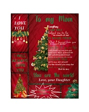 """TO MY MOM CUSTOM NAME CHRISTMAS Quilt 40""""x50"""" - Baby front"""