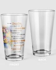 TO MY DAUGHTER FROM MOM 4 Pint Glass tile