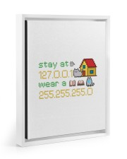 CAT LOVERS STICKER 2 11x14 White Floating Framed Canvas Prints thumbnail
