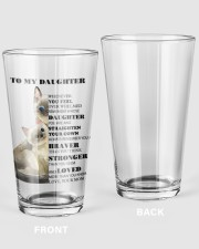 TO MY DAUGHTER FROM MOM 1 16oz Pint Glass thumbnail
