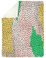 """ALL ABOUT LEOPARDS  Large Sherpa Fleece Blanket - 60"""" x 80"""" thumbnail"""