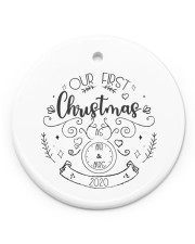 OUR FIRST CHRISTMAS 2020  Circle ornament - single (porcelain) thumbnail