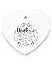 OUR FIRST CHRISTMAS 2020  Heart ornament - single (porcelain) thumbnail