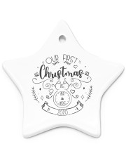 OUR FIRST CHRISTMAS 2020  Star ornament - single (porcelain) thumbnail
