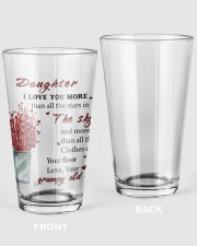 TO DAUGHTER FROM GRUMPY OLD MOM  16oz Pint Glass thumbnail