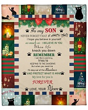 "TO MY SON FROM MOM CAT LOVER Fleece Blanket - 50"" x 60"" thumbnail"