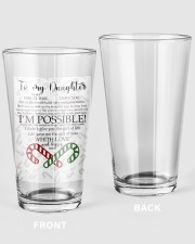 XMAS GIFT TO DAUGHTER  16oz Pint Glass thumbnail