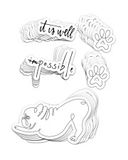 FRENCH BULLDOG 19 Sticker - 10 pack (Vertical) front