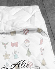 """CUSTOM FAMILY NAME - XMAS 2020 -2 Quilt 40""""x50"""" - Baby aos-quilt-40x50-lifestyle-closeup-front-07"""