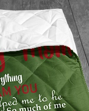 """TO MY MOM CUSTOM NAME - SANTA Quilt 40""""x50"""" - Baby aos-quilt-40x50-lifestyle-closeup-front-07"""