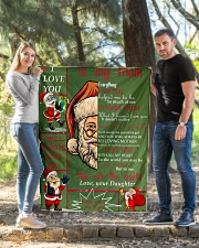 """TO MY MOM CUSTOM NAME - SANTA Quilt 40""""x50"""" - Baby aos-quilt-40x50-lifestyle-front-03"""