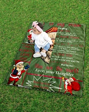 """TO MY MOM CUSTOM NAME - SANTA Quilt 40""""x50"""" - Baby aos-quilt-40x50-lifestyle-front-09"""