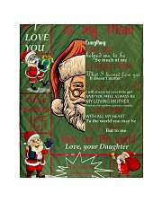 """TO MY MOM CUSTOM NAME - SANTA Quilt 40""""x50"""" - Baby front"""