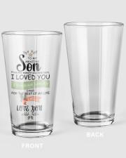 XMAS GIFT TO AMAZING SON  16oz Pint Glass thumbnail