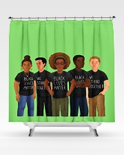 LIMITED EDITION 17 Shower Curtain aos-shower-curtains-71x74-lifestyle-front-02