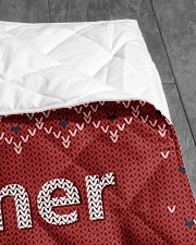 """TO MY FATHER CUSTOM NAME Quilt 40""""x50"""" - Baby aos-quilt-40x50-lifestyle-closeup-front-07"""