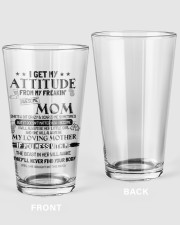 I GET MY ATTITUDE 1 16oz Pint Glass thumbnail