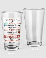 XMAS GIFT TO DAUGHTER FROM MOM  16oz Pint Glass thumbnail