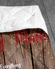 """TO MY MOM CUSTOM NAME - REINDEER Quilt 40""""x50"""" - Baby aos-quilt-40x50-lifestyle-closeup-front-07"""