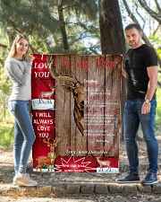 """TO MY MOM CUSTOM NAME - REINDEER Quilt 40""""x50"""" - Baby aos-quilt-40x50-lifestyle-front-03"""