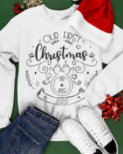 OUR FIRST CHRISTMAS 2020  Crewneck Sweatshirt apparel-crewneck-sweatshirt-lifestyle-front-21