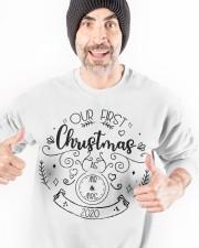 OUR FIRST CHRISTMAS 2020  Crewneck Sweatshirt apparel-crewneck-sweatshirt-lifestyle-front-33