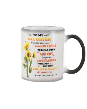 TO MY DAUGHTER FROM MOM 2 Color Changing Mug tile