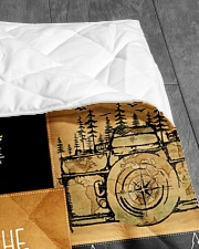 """CAMPING CUSTOM NAME  Quilt 40""""x50"""" - Baby aos-quilt-40x50-lifestyle-closeup-front-07"""