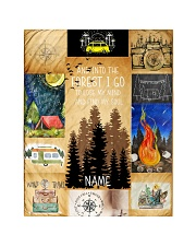"""CAMPING CUSTOM NAME  Quilt 40""""x50"""" - Baby front"""