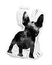 FRENCH BULLDOG 7 Sticker - 10 pack (Vertical) front