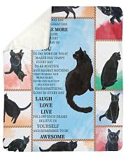 CAT LOVERS 48 Sherpa Fleece Blanket tile
