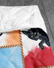 "CAT LOVERS 48 Quilt 40""x50"" - Baby aos-quilt-40x50-lifestyle-closeup-front-07"