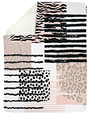 "ALL ABOUT LEOPARDS  Large Sherpa Fleece Blanket - 60"" x 80"" thumbnail"