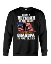 BEING A VETERAN IS AN HONOR GRANDPA IS PRICELESS Crewneck Sweatshirt thumbnail