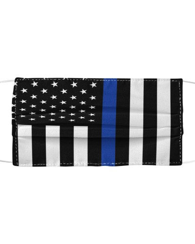 Thin Blue Line Cloth Mouth and Face Mask