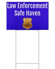Law Enforcement Safe Haven Yard Sign 18x12 Yard Sign front