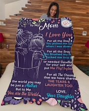 "To my Mom -  Large Fleece Blanket - 60"" x 80"" aos-coral-fleece-blanket-60x80-lifestyle-front-04"