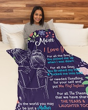 "To my Mom -  Large Fleece Blanket - 60"" x 80"" aos-coral-fleece-blanket-60x80-lifestyle-front-05"