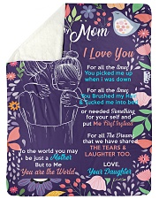 "To my Mom -  Large Sherpa Fleece Blanket - 60"" x 80"" thumbnail"