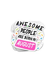 Awesome People Are Born In August Sticker - 10 pack (Horizontal) thumbnail