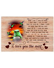 I Love You The Most 17x11 Poster front
