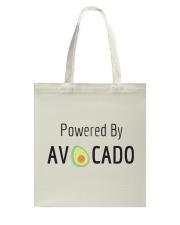 Powered By Avocado Tote Bag thumbnail