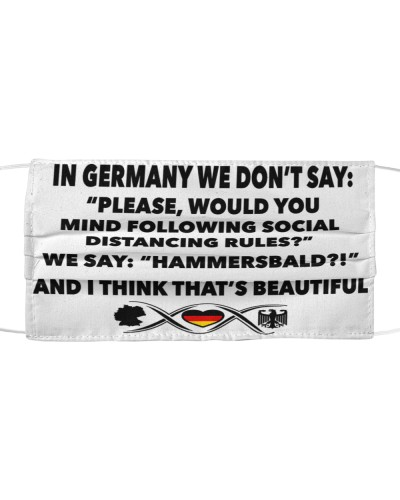 IN GERMAY WE DON'T SAY