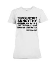 GERMAN WIFE Premium Fit Ladies Tee thumbnail