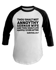 GERMAN WIFE Baseball Tee thumbnail